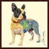 "Empire Art Direct ""Boston Terrier Dog"" Original Dimensional Collage Hand Signed by Alex Zeng Framed Graphic Art"