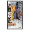 "Empire Art Direct ""Times Square NYC A"" Original Handmade Paper Collage Signed by Gianni Framed Graphic Art"