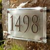 Clarus Crystal Engraved Crystal Address Plaque