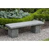 Campania International Reef Point Cast Stone Garden Bench