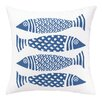 Kate Nelligan 4 Fish Outdoor Pillow