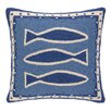 Kate Nelligan Oriental Fish Hooked Square Pillow