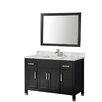"""MTD Vanities Ricca 48"""" Single Sink Bathroom Vanity Set with Mirror"""