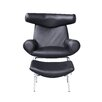 Fine Mod Imports Big Lounge Side Chair and Ottoman Set