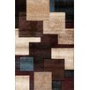 <strong>Pinnacle Black/Multi Strie Blocks Rug</strong> by Central Oriental