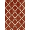 Central Oriental Terrace Red Taza Area Rug
