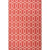 Urban Bungalow Geometric Red/Ivory Rug