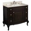 "American Imaginations 40"" Single Traditional Birchwood-Veneer Bathroom Vanity Set"