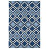 Kaleen Kelly Home & Porch Blue Geometric Indoor/Outdoor Area Rug