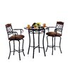 Tempo Madrid 3 Piece Pub Table Set