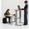 ConSet Computer Desk with Beech Veneer Top