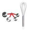 BergHOFF International Baking 5 Piece Whisk and Measuring Cup Set