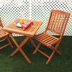 Vifah Glaser 2 Piece Folding Dining Set