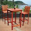<strong>Dartmoor 3 Piece Bar Height Dining Set</strong> by Vifah