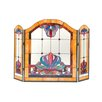 Dale Tiffany Anemone 3 Panel Glass Fireplace Screen