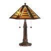 "Dale Tiffany Grueby Tiffany 22"" H Table Lamp with Empire Shade"