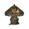 "<strong>Dale Tiffany</strong> Dragonfly 11.5"" H Table Lamp with Empire Shade"