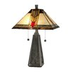 "Dale Tiffany Mallison 21.5"" H Table Lamp with Square Shade"