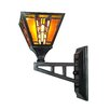 Dale Tiffany Amber Monarch 1 Light Wall Sconce