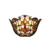 <strong>Dale Tiffany</strong> Floral 1 Light Leland Wall Sconce