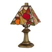 """<strong>Fruit Mini 11"""" H Table Lamp with Square Shade</strong> by Dale Tiffany"""