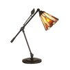 "<strong>Dale Tiffany</strong> Tiffany Leaf 18.5"" H Table Lamp with Bell Shade"
