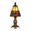 "Dale Tiffany Cavan Tiffany 12.75"" Accent Table Lamp"