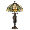 "Dale Tiffany Asure Tiffany 28""  Table Lamp with Bowl Shade"