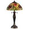 """Dale Tiffany Rosewood 28"""" Tiffany Table Lamp with Bowl Shade"""