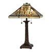 "Dale Tiffany Oak Park 25"" H Table Lamp with Square Shade"