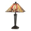 "Dale Tiffany Frediano 22"" H Table Lamp with Square Shade"