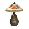 "<strong>Floral 22"" H Table Lamp with Bowl Shade</strong> by Dale Tiffany"