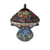 "<strong>Dale Tiffany</strong> Dragonfly Tiffany 10.25"" H Table Lamp with Empire Shade"
