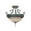 <strong>Diamond Edge Tiffany 4 Light Semi Flush Mount</strong> by Dale Tiffany