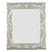 Antoinette Rectangular Wall Mirror in Antique Silver