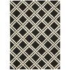 Nourison Linear Black and White Rug