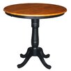 International Concepts Round Pedestal Counter Height Pub Table