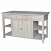 <strong>Unfinished Kitchen Island</strong> by International Concepts