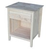 International Concepts Shaker Style 1 Drawer Nightstand