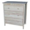 International Concepts Shaker Style  3 Drawer Chest