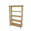 International Concepts Unfinished Four Tier Shelf Unit
