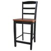 "Madrid 24"" Counter Height Stool in Black / Cherry"