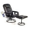 <strong>Leisure Heated Reclining Massage Chair with Ottoman</strong> by Comfort Products