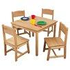 KidKraft Farmhouse Kids' 5 Piece Table and Chair Set