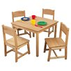 KidKraft Kids' Farmhouse 5 Piece Table & Chair Set