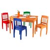 KidKraft Euro Honey Kids' 5 Piece Table and Chair Set
