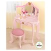 "Princess 12.75"" Vanity Table and Stool"