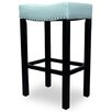 "<strong>Armen Living</strong> Tudor 30"" Backless Leather Barstool"