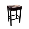 "Armen Living Tudor 26"" Backless Bonded Leather Barstool"