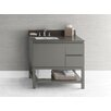 "Ronbow Contempo Chloe 36"" W Wood Cabinet Vanity Slate Gray Base"